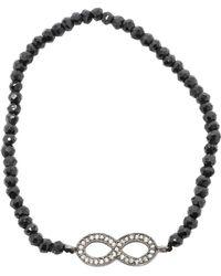 Adornia - Diamond And Black Spinel Infinity Bracelet - Lyst