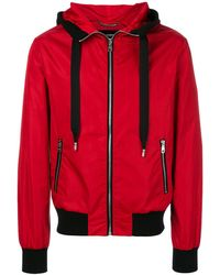Dolce & Gabbana - Hooded Jacket With Patch Appliqué - Lyst