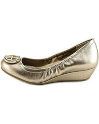 Giani Bernini - Skoutt Women Open Toe Synthetic Gold Wedge Heel - Lyst