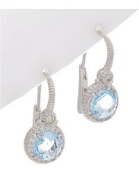 Judith Ripka - La Petite Silver 4.03 Ct. Tw. Gemstone Earrings - Lyst