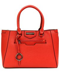 Suzy Levian - Saffiano Faux Leather Satchel Handbag - Lyst