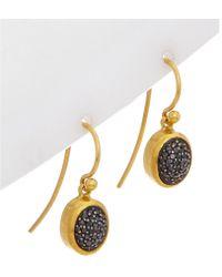 Gurhan - Amulet 18k & 24k 0.33 Ct. Tw. Diamond Drop Earrings - Lyst
