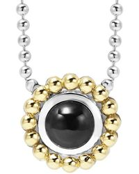 Lagos - Signature Colour 18k & Silver Onyx Necklace - Lyst