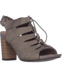 Clarks - Banoy Waneta Lace Up Sandals, Sage Nubuck - Lyst