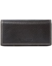 Longchamp - Grained Leather Continental Wallet - Lyst