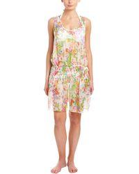 Shoshanna - Botanical Floral Smocked Tank Dress - Lyst