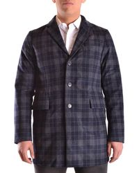 Peuterey | Men's Blue/grey Wool Coat | Lyst