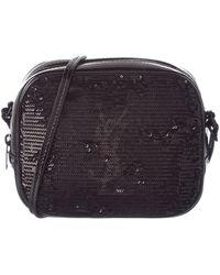 Saint Laurent - Monogram Leather Sequins Blogger Bag - Lyst