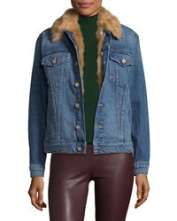 Mother - Accented Denim Jacket - Lyst