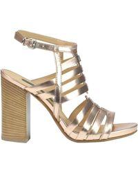Janet & Janet - Women's Bronze Leather Sandals - Lyst