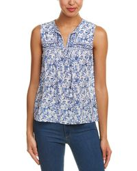 Rebecca Taylor - Aimee Floral Sleeveless Silk Top - Lyst