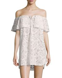 6 Shore Road By Pooja - Off-the-shoulder Ruffle Coverup - Lyst