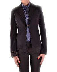 Dirk Bikkembergs - Women's Mcbi097041o Black Polyester Blazer - Lyst
