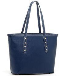 Susu - Ludlow Saffiano Leather Shoulder Tote Blue Shoulder Bag - Lyst