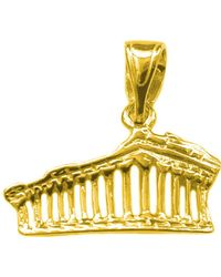 Jewelry Affairs - Sterling Silver 18 Karat Gold Overlay Greek Parthenon Akropolis Pendant - Lyst