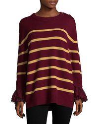 Manoush - Striped Merino Wool Blouse - Lyst