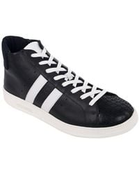 Bikkembergs - Men's Black Leather Bounce 699 Mid Trainers - Lyst