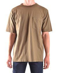 Stone Island - Men's Green Cotton T-shirt - Lyst