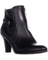 LifeStride - Yanni Zip Up Ankle Boots, Black - Lyst