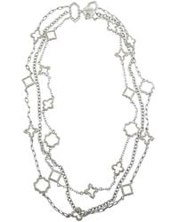 Jewelista - Sterling Silver Layered Charm Necklace - Lyst