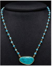 Argento Vivo - 18k Plated Gemstone Beaded Necklace - Lyst