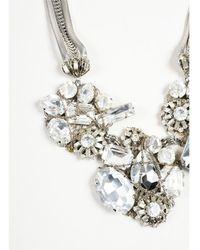 Erickson Beamon - 1 Silver Crystal Cluster Multi Strand Bib Necklace - Lyst