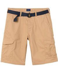 GANT - Men's Beige Cotton Shorts - Lyst
