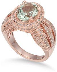 Suzy Levian - Sterling Silver 4.35 Tcw Green Amethyst Ring - Lyst