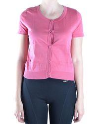 Philosophy - Women's Pink Cotton Cardigan - Lyst