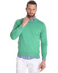 Cruciani - Men's Green Cotton Sweater - Lyst