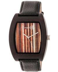 Earth Wood - Unisex Cedar Leather-band Watch - Lyst