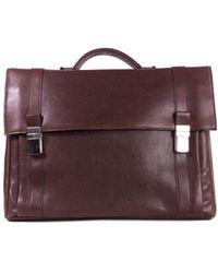 Brunello Cucinelli - Men's Brown Leather Briefcase - Lyst