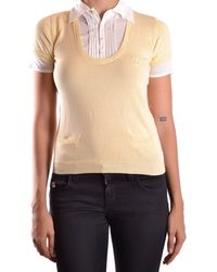 DSquared² - Women's Yellow Cotton Polo Shirt - Lyst