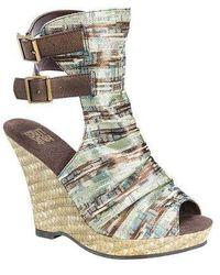 Muk Luks - Women's Sage Peep Toe Wedge Sandal - Lyst