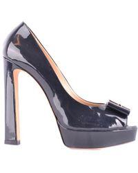 Elisabetta Franchi - Women's Black Patent Leather Pumps - Lyst