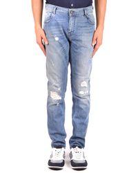 Paolo Pecora - Men's Mcbi231058o Blue Cotton Jeans - Lyst