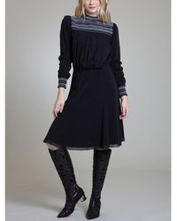 Vivienne Tam - Smock Neck A-line Dress - Lyst