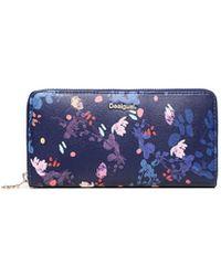 Desigual - Women's Blue Polyurethane Wallet - Lyst