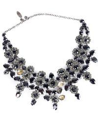 Roberto Cavalli | Womens Collana Swarovski Crystal Flowers Necklace | Lyst