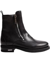 DSquared² - Men's Black Leather Ankle Boots - Lyst