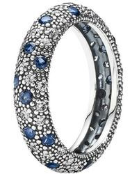 PANDORA - Comic Stars Silver Cz & Crystal Ring - Lyst