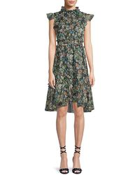 Kendall + Kylie - Kendall + Kylie Floral-print Knee-length Dress - Lyst