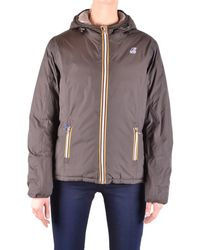 K-Way - Women's Brown Polyamide Down Jacket - Lyst