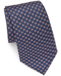 Saks Fifth Avenue - Made In Italy Floral Link Silk Tie - Lyst