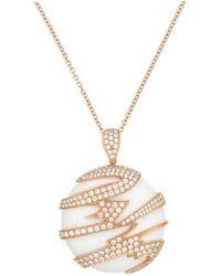 Diana M. Jewels - Rose Gold Diamond Pendant - Lyst