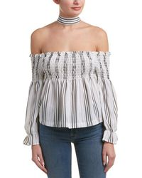 4si3nna - Off-the-shoulder Choker Top - Lyst