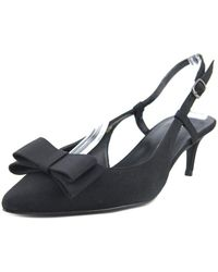Vaneli - Thais Women Pointed Toe Canvas Black Slingback Heel - Lyst
