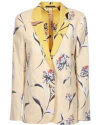 Paul Smith - Women's Yellow Linen Blazer - Lyst