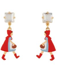Les Nereides - Into The Woods Litlle Red Riding Hood Strolling In The Woods Earrings - Lyst