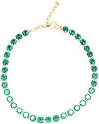 Zenzii - Crystal Royalty Gemstone Collar Necklace - Lyst